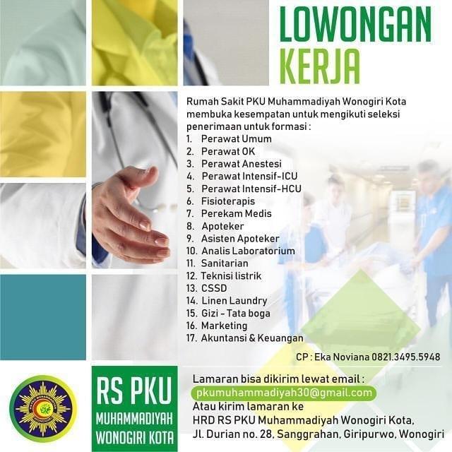 Lowongan Kerja Rs Pku Muhammadiyah Wonogiri Info Loker Solo