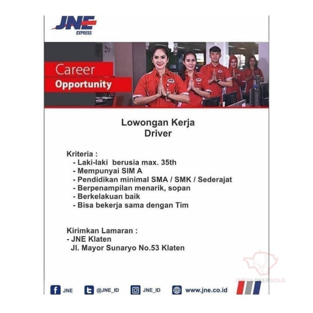 Lowongan Kerja Driver Jne Klaten Info Loker Solo