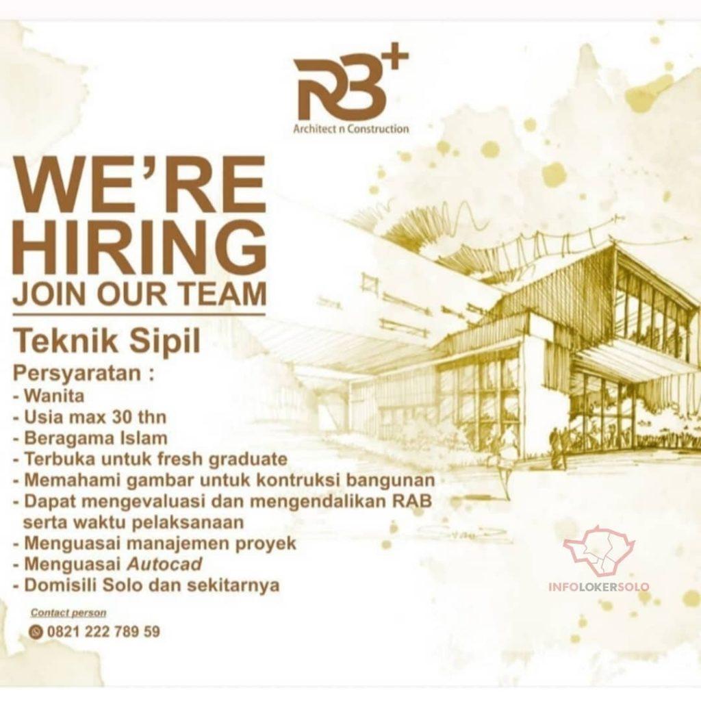 Lowongan Kerja Teknik Sipil Kantor RB Architect - INFO ...